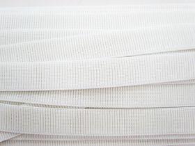 Budget Elastic- 25mm Ribbed- White