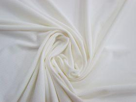 Micro Mesh Moisture Management Sports Knit- White #1663