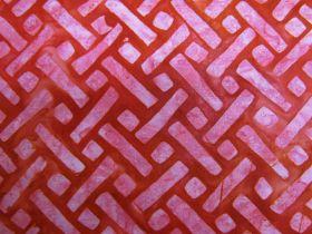 Batiks Cotton- Elementals- Geo Red