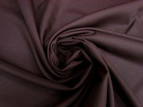 Wool Blend Twill Suiting- Dark Plum #5435