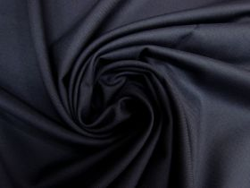 Wool Blend Twill Suiting- Marine Navy #5438