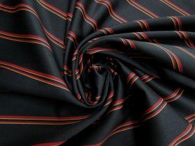 Wool Blend Twill Suiting- Danger Stripe #5441