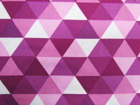 Kinetic Cotton- Triangles- Purple