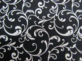 Night & Day Cotton- Classic Scroll Black/White #390