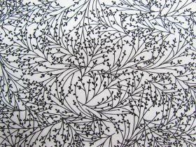 Night & Day Cotton- Tossed Sprigs White/Black #799