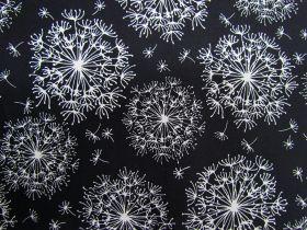 Night & Day Cotton- Dandelion Black/White #40690
