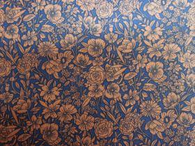 Secret Garden Cotton- Bronze/Blue PW1291