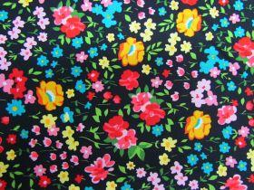 Flower Festival Cotton- Black PW1310