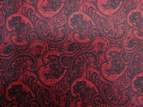 Princely Paisley Cotton- Red PW1284