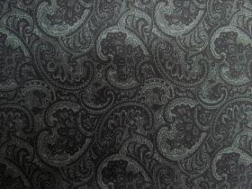 Princely Paisley Cotton- Black PW1287