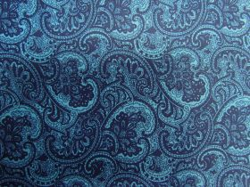 Princely Paisley Cotton- Blue PW1286