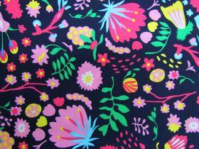 Wild Blooms Cotton- Navy PW1294