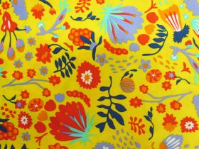 Wild Blooms Cotton- Yellow PW1296