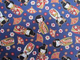 Sakura Dolls Cotton- Blue #5457