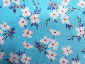 Blossoming Cotton- Aqua PW1316