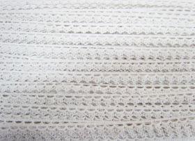 11mm Cotton Lace Edge Trim- White #534