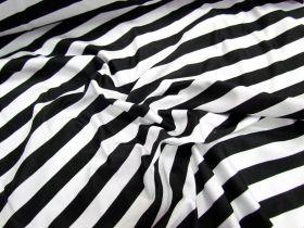 Stripe Spandex- Black/White
