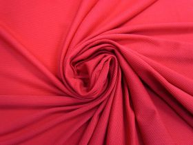 2-Way Stretch Micro Eyelet Spandex- Crimson Red #4035