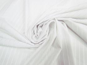Sheer Stripe Spandex- White #4060