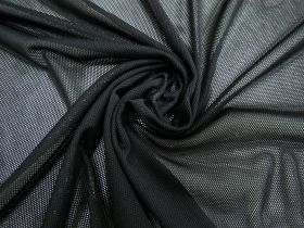 Polyester PBT Micro Fishnet Mesh- Black #4090