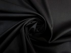 Stretch Wool Suiting- Soft Black #5483