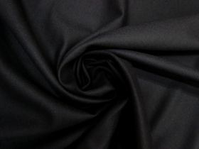 Soft Wool Twill Suiting- Black #5484