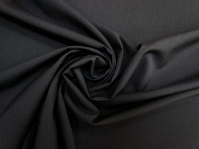 Lightweight Stretch Wool Suiting- Black #5489
