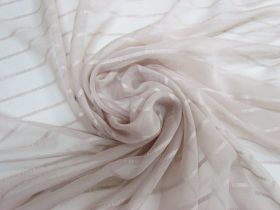 Delicate Stripe Silk Georgette- Soft Beige #5498