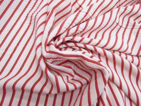 Red Hot Stripe Viscose Blend Twill #5504