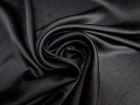 Delustered Crepe Back Satin- Black #5510