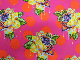 Tula Pink Curiouser And Curiouser- Painted Roses- Daydream #161