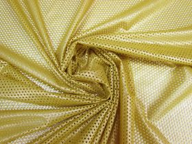Stretch Eyelet Mesh- Luxe Gold #5531