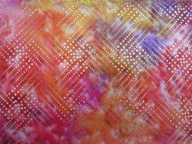 Metallic Gold Batik Cotton- Blazing Star #4131