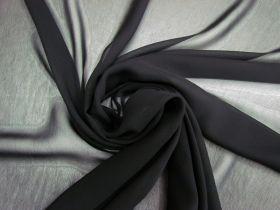 Super Fine Viscose Georgette- Nightfall Black #4153