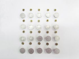 17mm Stud Jeans Button Pack- Branded Silver RW329 - 20 for $6