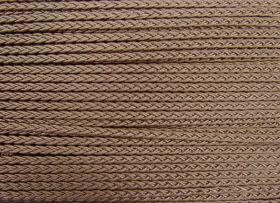 6mm Plaited Braid Trim- Medium- Bronze Beige