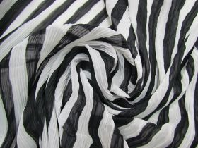 Metropolis Stripe Pleated Chiffon#1838