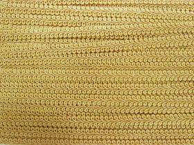 9mm Decorative Braid Trim- Pale Gold