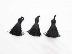 Designer Tassels- Luxe Black 3 for $5 RWT02