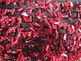 Paillettes Fringe Trim- Red #539