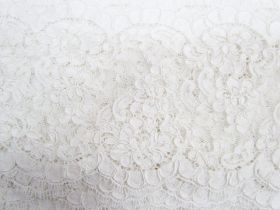 13cm Corded Chantilly Lace- Graceful White #542