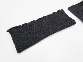 Wool Pre-Cut Cuff Ribbing- Charcoal #RWC003