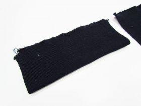 Wool Pre-Cut Cuff Ribbing- Dark Navy #RWC005