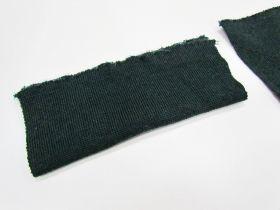 Wool Pre-Cut Cuff Ribbing- Dark Emerald #RWC008