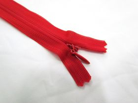 Invisible Zip- Hot Red- 145