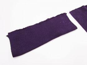 Cotton Blend Pre-Cut Cuff Ribbing- Grape #RWC012