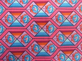 Anna Maria Horner Cotton- Bright Eyes- Facets- Coral