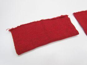 Wool Pre-Cut Cuff Ribbing- Cherry #RWC015
