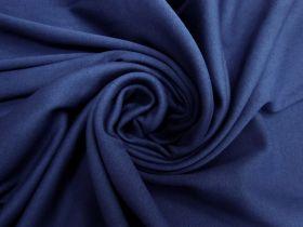 Tubed 1x1 Cotton Rib- Night Blue #5549