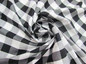 25mm Gingham Cotton- Black #5560